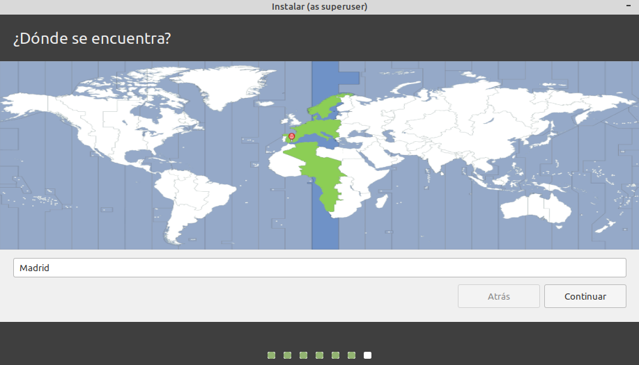 ZONA HORARIA LINUX MINT